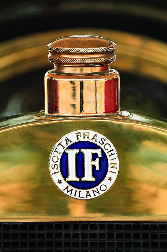 1908 Isotta Fraschini Tipo FENC Emblem Photograph by Jill Reger
