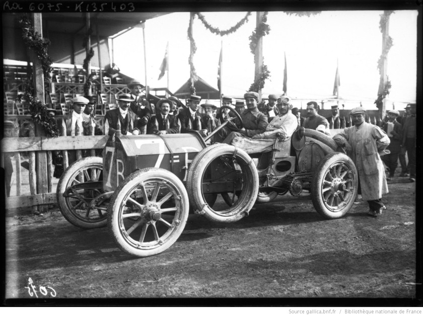 1908 Targa Florio 1908, [Ferdinando] Minoia sur Isotta-Fraschini course automobile sur