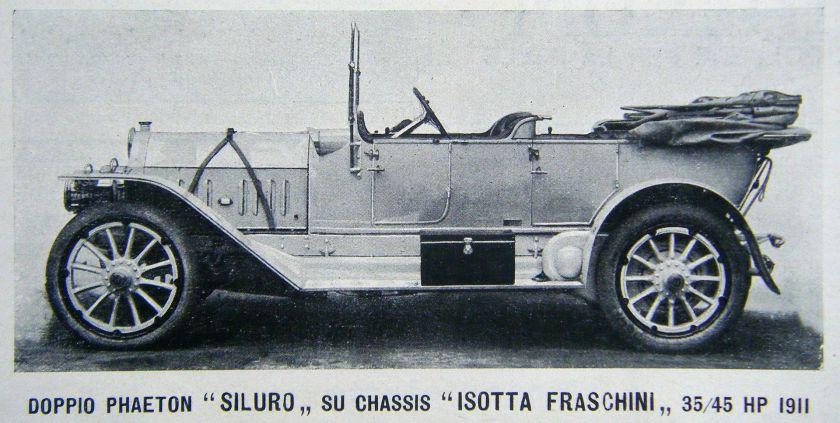 1911 Isotta Fraschini Torpedo 35-45 HP mod. 1911 con trasmissione a catena.