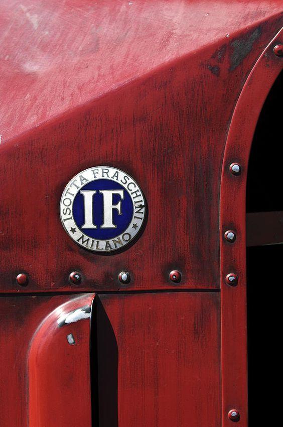1913 Isotta Fraschini Tipo Im Emblem-Badge