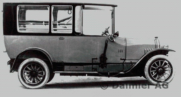 1920-21 Daimler ambulance Type UK with 16-45 hp Knight engine