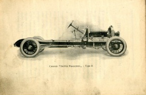 1920 Isotta Fraschini Tipo 8 Chassis Pic from French Owner's Manual