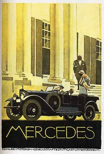 1920 Mercedes advertising