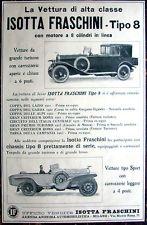 1923 Isotta Fraschini Tipo 8 Italian ad