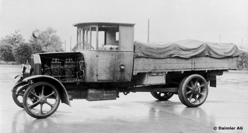 Der erste Daimler-Lastwagen 4-Zyl. 40-PS Dieselmotor, 1923.