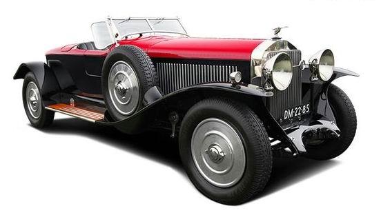 1925 Isotta Fraschini 8A Corsica Boattail Speedster - Salon