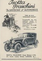 1925 Isotta Fraschini Tipo 8A UK ad