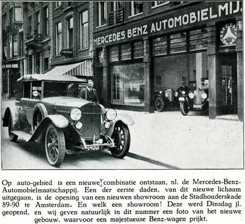 1925 mercedes auto-maatschappij