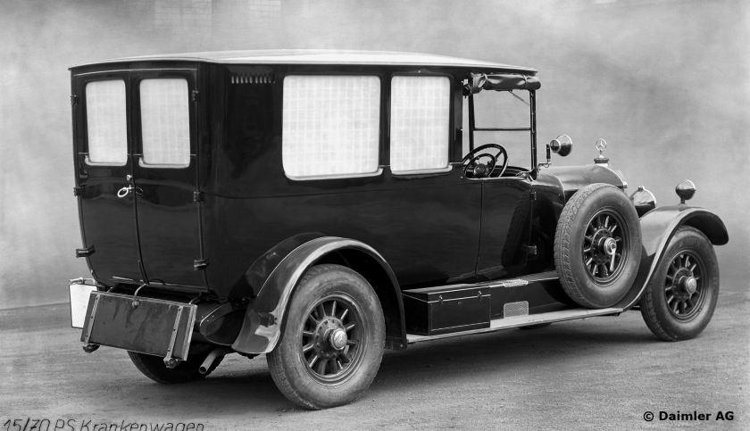 Mercedes Krankenwagen aus dem Jahre 1925.