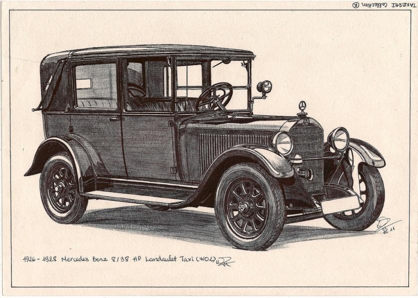 1926-28 Mercedes Benz 8-38 HP Landaulet Taxi (W02)