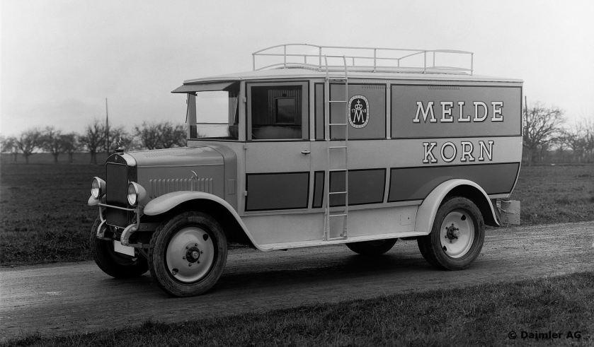 Mercedes-Benz Typ L1 (Motor M14) 1,5-to Kastenwagen, 1926 - 1928.