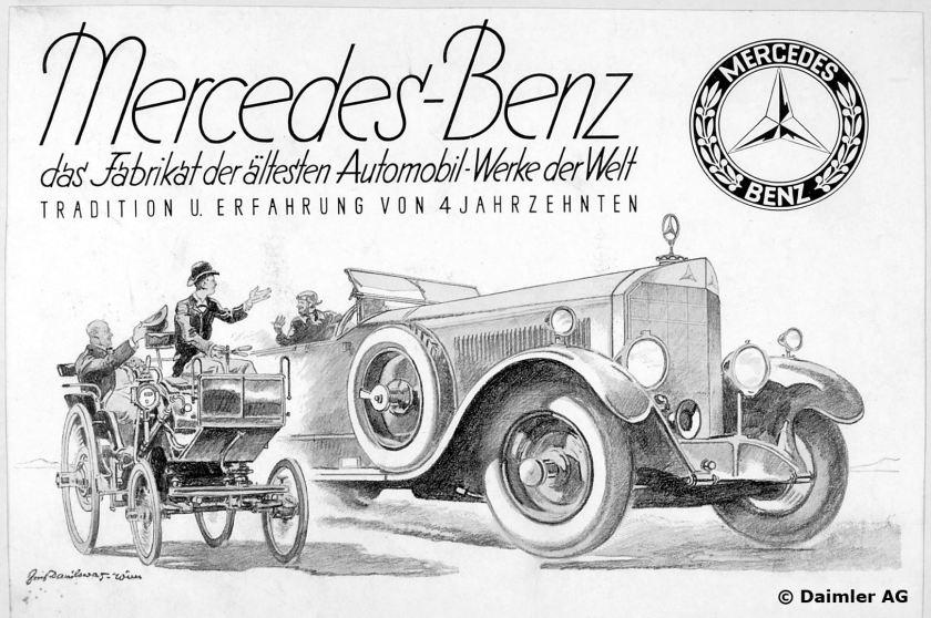 1926 Daimler Benz AG Mercedes Benz das Fabrikat der ältesten Automobil-Werke der Welt - Tradition und Erfahrung von 4 Jahrzenten, Motiv 15-70-100, Typ 400,