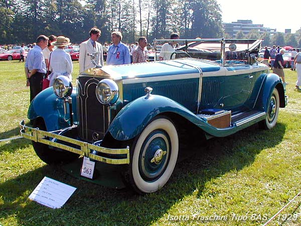 1929 Isotta Fraschini's Tipo 8AS