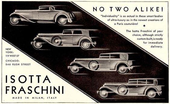 1930 Isotta Fraschini adIII