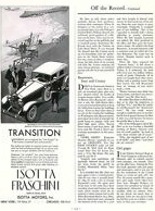 1930 Isotta Fraschini Tipo 8A ad