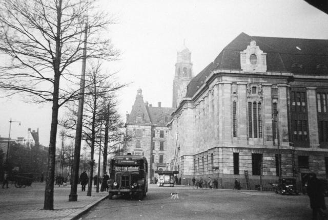 Bus 3, Krupp-Allan, kenteken H-65191, lijn D, Coolsingel 1930
