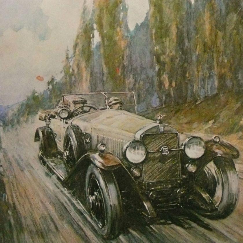 1930s ISOTTA-FRASCHINI Tipo 8A F Gordon CROSBY Art Print a