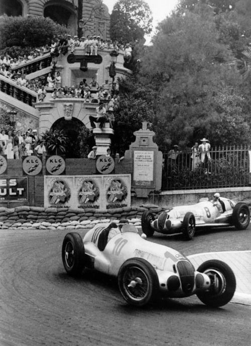 1930's Mercedes Grand Prix cars Monaco
