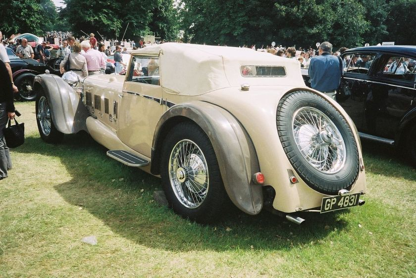 1931 Daimler Double-Six 50 alloy V12 150bhp Corsica drophead coupé body designed by Reid Railton