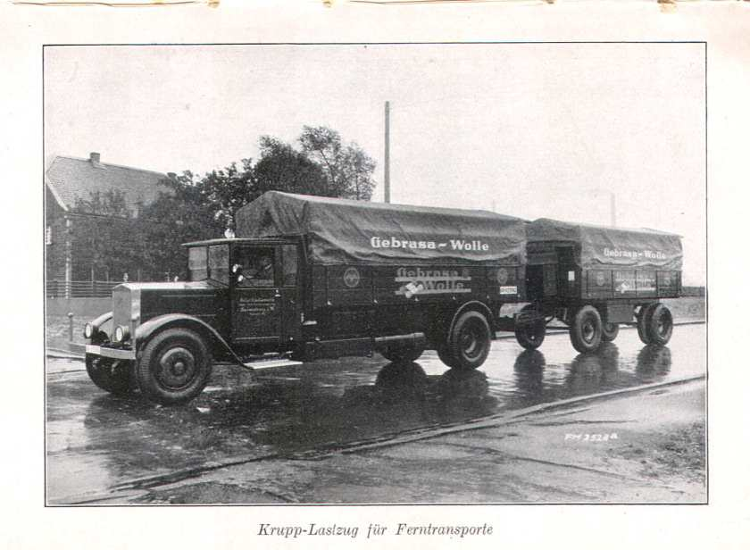 1931 Krupp truck for long distance transport