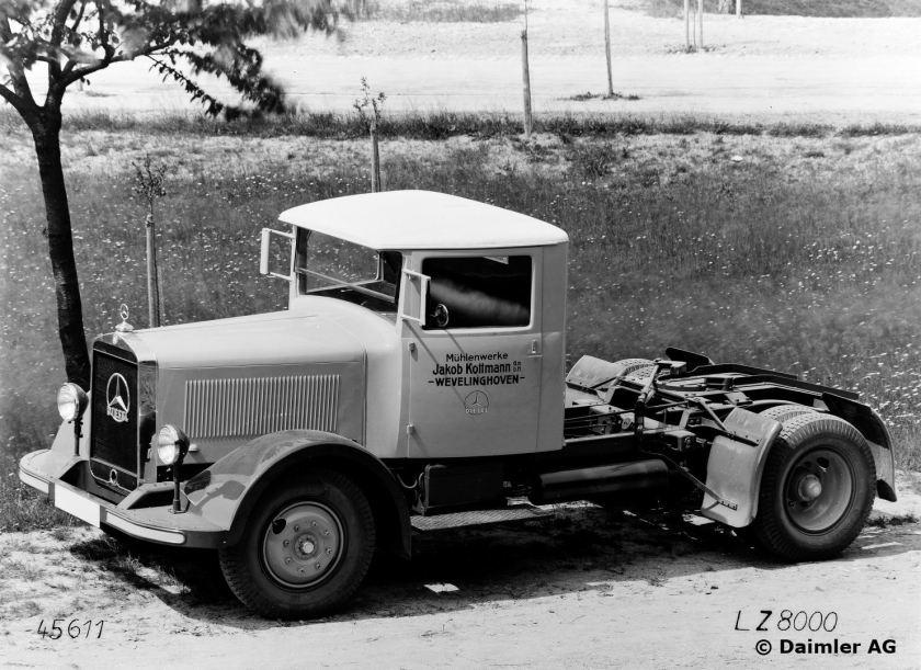 Mercedes-Benz Typ LZ 8000 Sattelschlepper, 1932 - 1935.