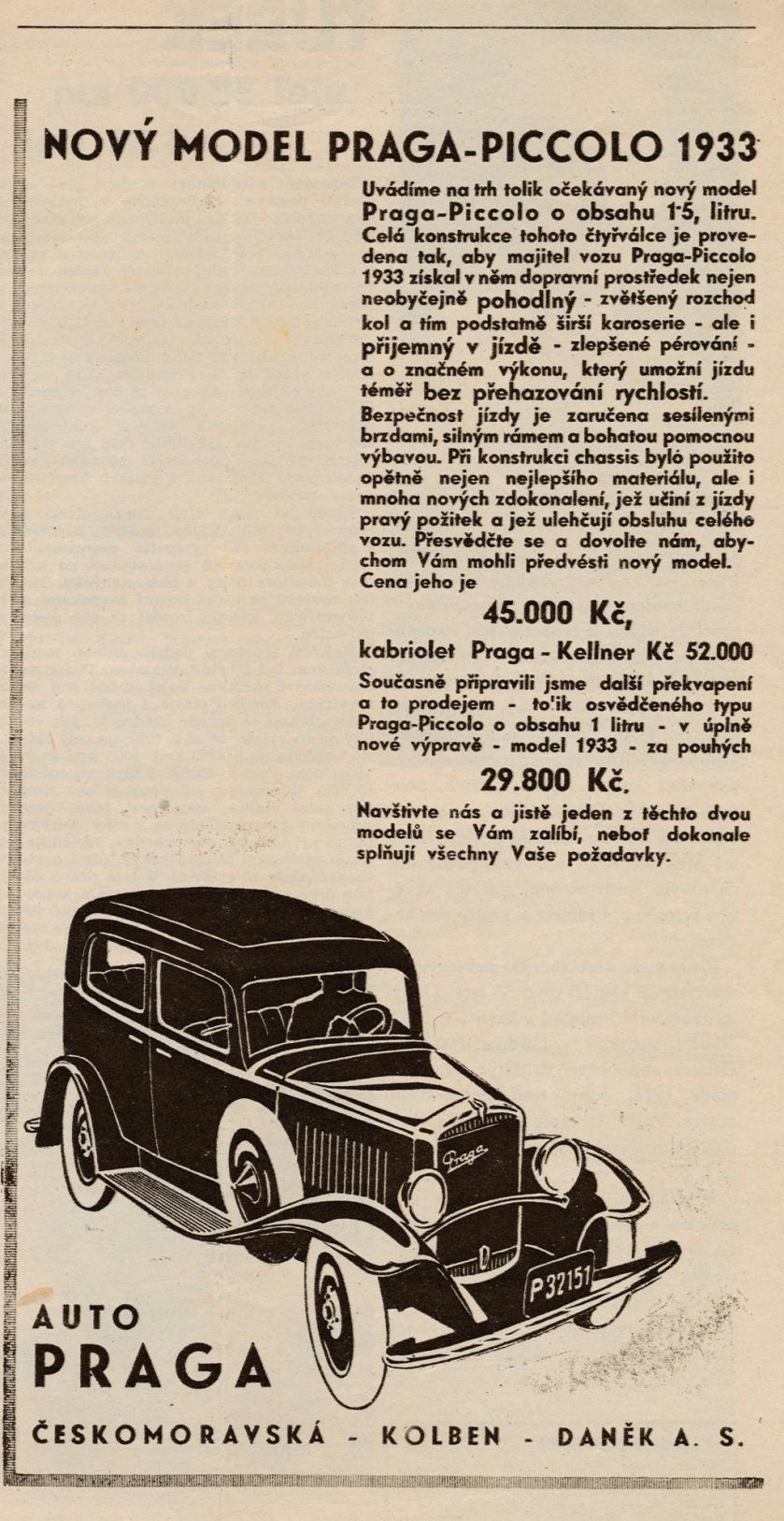 1932 Praga Piccolo 8-1932