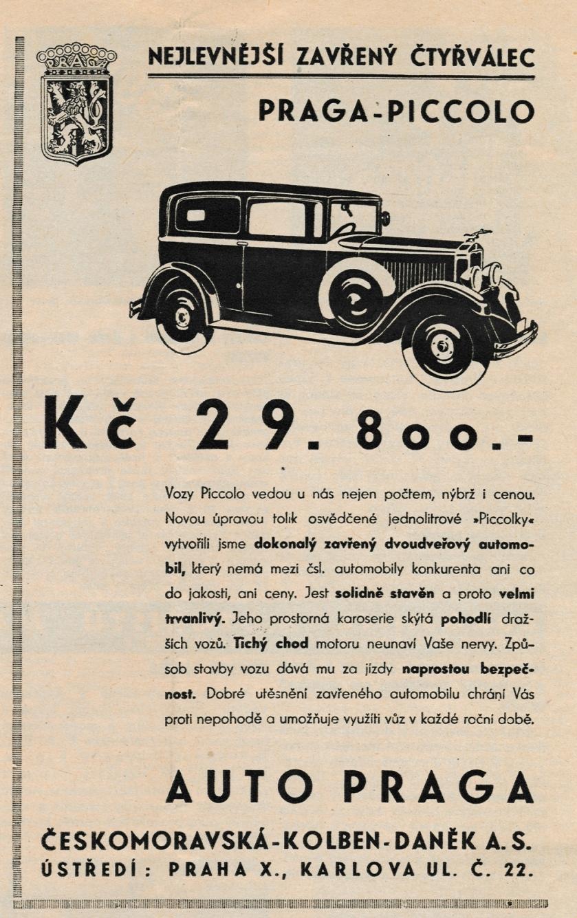 1932 Praga Piccolo 9-1932