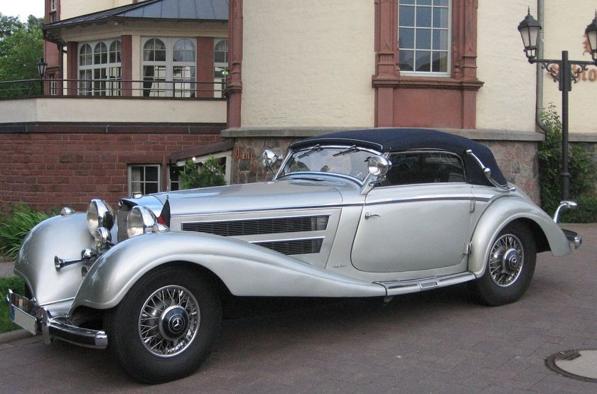 1934-36 Mercedes 500K (type W29) Cabriolet is a grand touring car