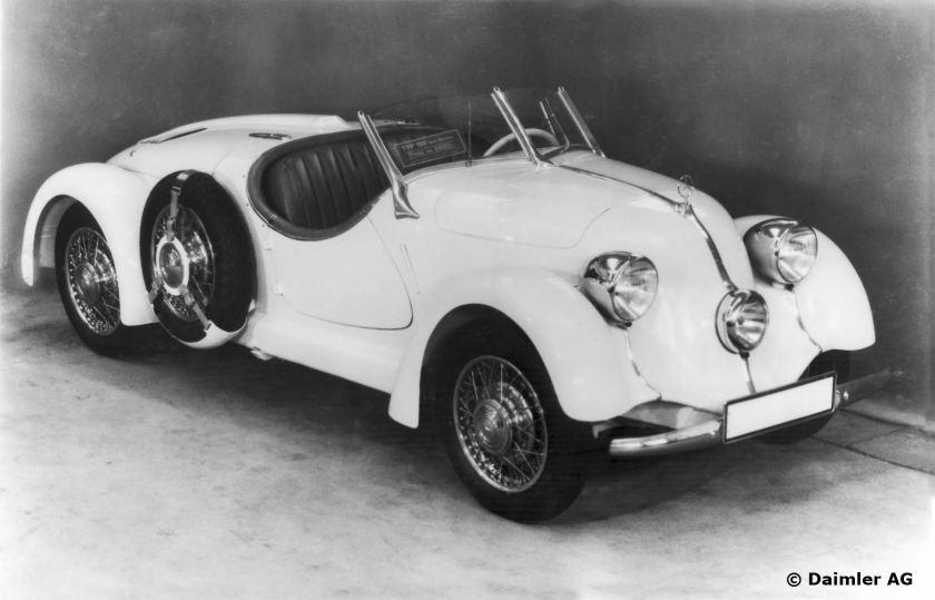 Mercedes-Benz Typ 150, Sport-Roadster, Bauzeit: 1934 - 1936.