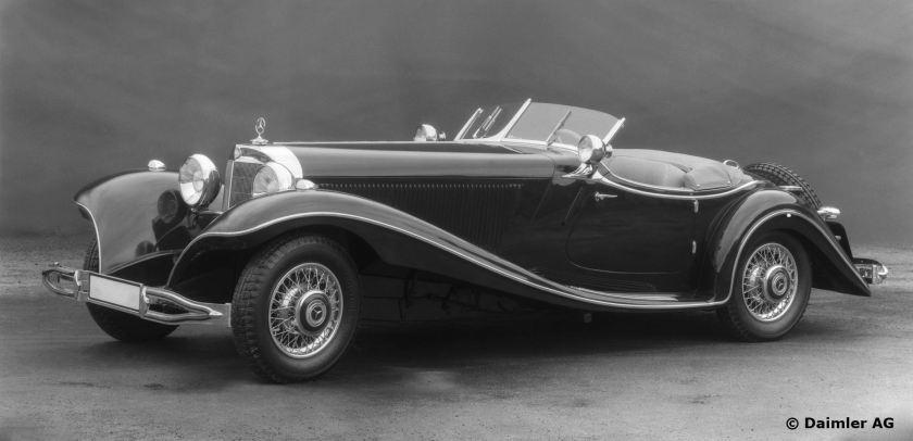 Mercedes-Benz Typ 500 K, 160 PS, Roadster, Bauzeit: 1934 bis 1936.