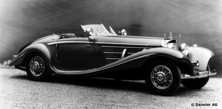Mercedes-Benz Typ 500 K, 160 PS, Spezial-Roadster, Bauzeit: 1934 bis 1936.