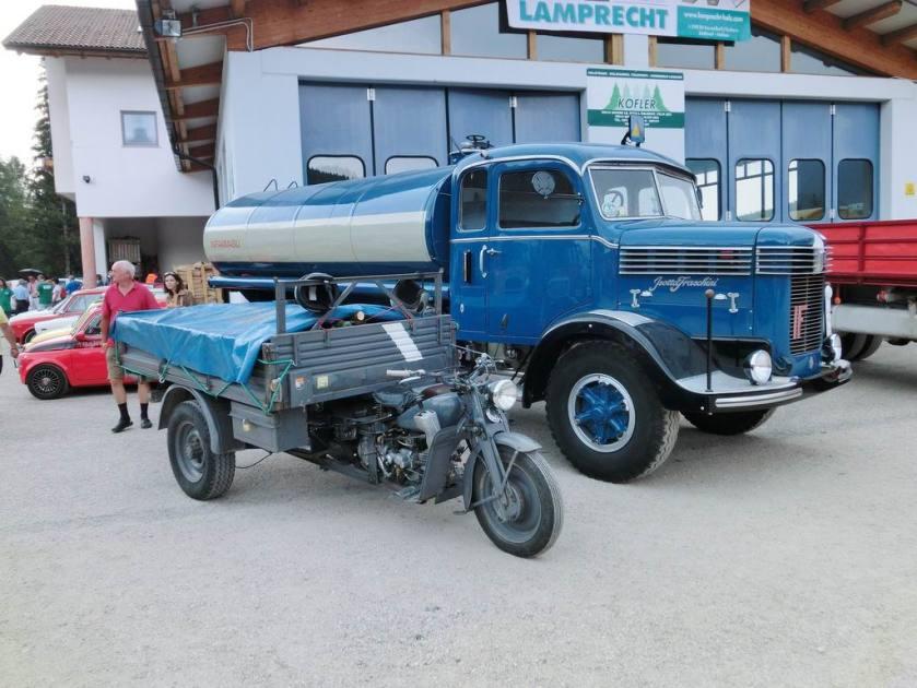 1934-55 Isotta Fraschini D80 cisterna Raduno Oldtimer Sanfelice Bolzano Italy