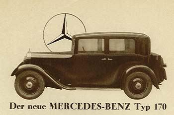 1934 Mercedes Benz 170 Reclame a