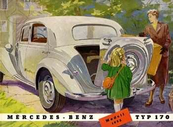 1934 Mercedes Benz 170 Reclame c