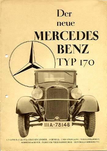 1934 Mercedes Benz 170 Reclame