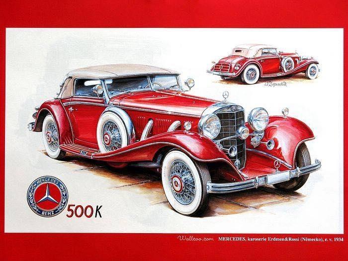 1934 Mercedes Benz 500K ad