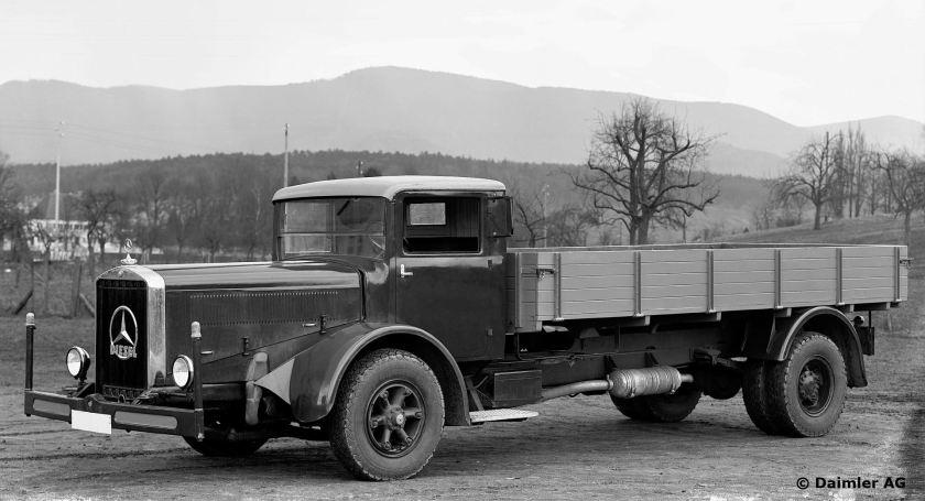1935-37 Mercedes Benz L 6500 (120 hp or 150 hp diesel) 6.5t platform truck