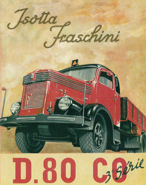 1935 Isotta Fraschini D.80 CO drawing ad
