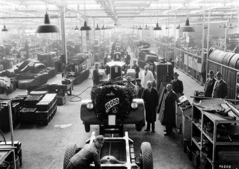 Produktionsjubiläum im Werk Gaggenau, Nfz, ca. 1940.