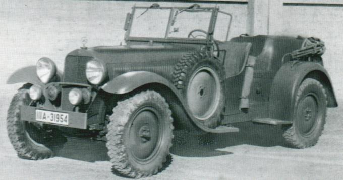 1936-37 Mercedes Benz-290 W18 Wehrmacht-Kübelwagen