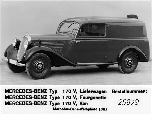 1936 mercedes benz 170v w136 van