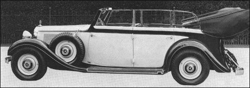 1936 mercedes benz 1936 W135 cabrio papler