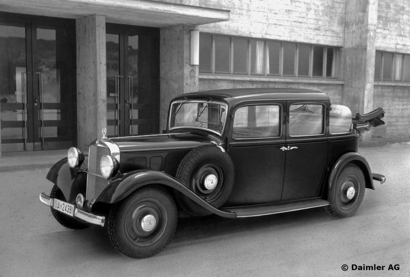 1936 Mercedes Benz 260 D landaulet taxi.