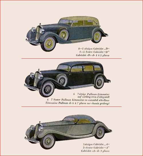 1936 mercedes benz 290 3 wersje W18 W18 II W135