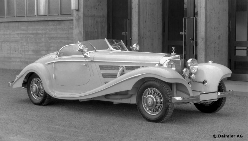 Mercedes-Benz Typ 500 K Spezialroadster, 1936.