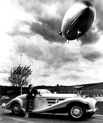 1936 mercedes benz 500k special roadster+hindenburg