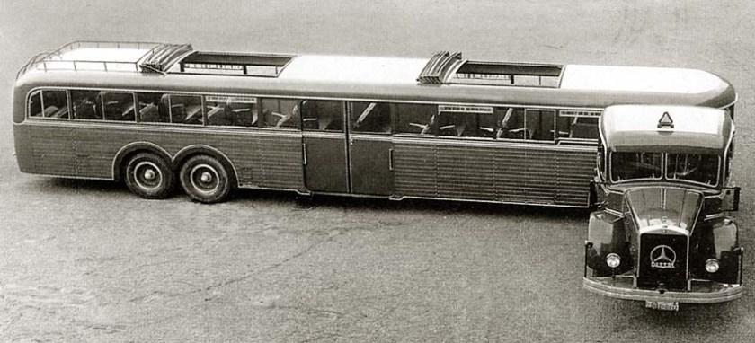 1936 Mercedes Benz Kässbohrer Grossraum Sattelbus 172pers
