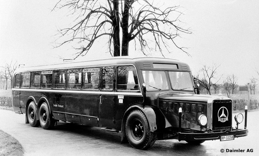 1937-39 Mercedes Benz O 10000 Reichspost bus. Gaggenau all-steel body