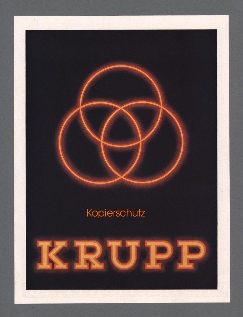 1937 Krupp Stahlwerke Schwerindustrie Friedrich Krupp AG Essen Reklame Werbung 1937