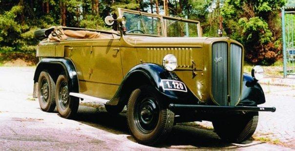 1937 Praga AV, 6x6, staff car